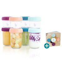 Babymoov Lebensmittelbehälter Babybols 8 Stk. Glas