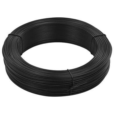 vidaXL Zaun-Bindedraht 250 m 1,6/2,5 mm Stahl Anthrazit