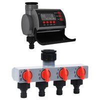vidaXL Bewässerungsuhr mit Einzelauslauf und Wasserverteiler