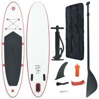 vidaXL Stand Up Paddle Surfboard SUP Aufblasbar Rot und Weiß