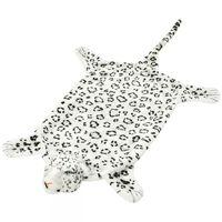 vidaXL Plüsch Leopardenfell Teppich 139 cm Weiß