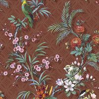 DUTCH WALLCOVERINGS Tapete Tropical Rotbraun