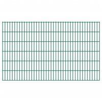 vidaXL 2D Gartenzaun-Elemente 2,008x1,23 m Gesamtlänge 32 m Grün