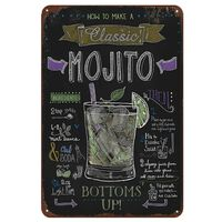 Mojito Cuba Libre Cocktail, Metallschilder Wohnkultur - Vintage