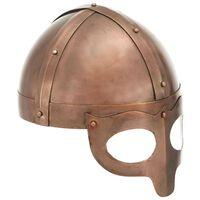 vidaXL Wikinger-Helm Antik Replik LARP Kupfern Stahl