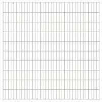 vidaXL 2D Gartenzaun-Elemente 2,008x2,03 m Gesamtlänge 16 m Silbern