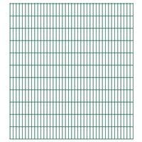 vidaXL 2D Gartenzaun-Elemente 2,008x2,23 m Gesamtlänge 22 m Grün