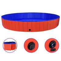 vidaXL Hundepool Faltbar Rot 300x40 cm PVC