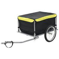vidaXL Fahrrad-Lastenanhänger Schwarz und Gelb 65 kg