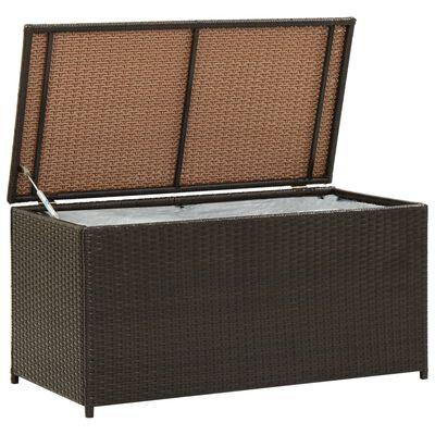 vidaXL Gartenbox Poly Rattan 100x50x50 cm Braun