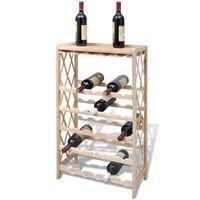 vidaXL Weinregal für 25 Flaschen Tanne Massivholz