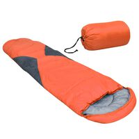 vidaXL Schlafsack Orange 5℃ 1400g