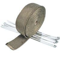 Hitzeschutzband Basaltfaser Auspuffband Mit Kabelbinder Für