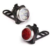 Fahrradlicht Set - Led Fahrradlampe Taschenlampe Beleuchtung Lampen