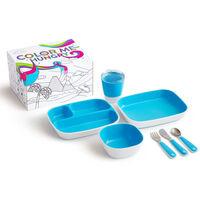 Munchkin 7-tlg. Kinder-Geschirrset Color Me Hungry Blau