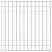 vidaXL 2D Gartenzaun-Elemente 2,008x2,03 m Gesamtlänge 20 m Silbern
