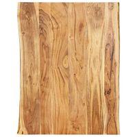 vidaXL Tischplatte Massivholz Akazie 80x(50-60)x2,5 cm