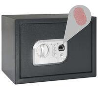 vidaXL Digitaler Tresor mit Fingerabdruck Dunkelgrau 35x25x25 cm