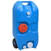vidaXL Camping-Wassertank mit Rollen 40 L Blau