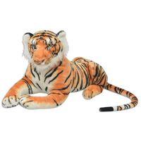 vidaXL Tiger Plüschtier Braun XXL
