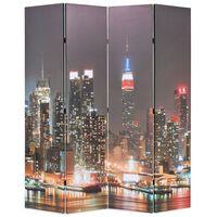 vidaXL Raumteiler klappbar 160 x 170 cm New York bei Nacht