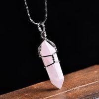 1pc natürlichen Kristall Rose Quarz Amethyst Anhänger magische