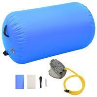 vidaXL Aufblasbare Gymnastik-Rolle mit Pumpe 100x60 cm PVC Blau