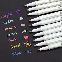 Metallic Marker Pens, Satz Von 10 Farben Für