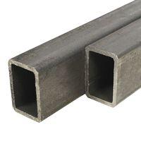 vidaXL Baustahlrohre 2 Stk. Rechteckiges Kastenprofil 1 m 60x30x2 mm