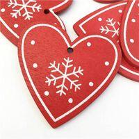 Hölzerne Weihnachtsanhänger 10pcs 5cm hängende Verzierungen -