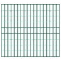 vidaXL 2D Gartenzaun-Elemente 2,008x1,83 m Gesamtlänge 34 m Grün