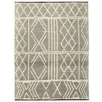 vidaXL Teppich Handgewebt Wolle 140×200 cm Schwarz/Weiß
