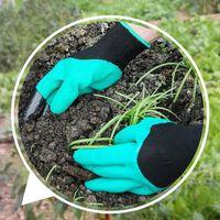Gartenhandschuhe mit Fingerspitzenkrallen zum Gärtnern, Graben,