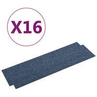 vidaXL Teppichfliesen 16 Stk. 4 m² 25x100 cm Blau