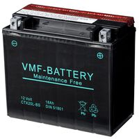 VMF Powersport Liquifix Batterie 12 V 18 Ah MF YTX20L-BS