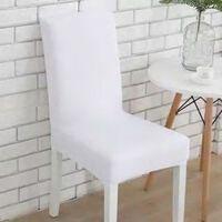 Stoff Stuhlbezug für Esszimmer - Wohnzimmer mit hoher Rückenlehne -