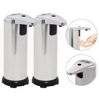 vidaXL Automatischer Seifenspender 2 Stk. Infrarot-Sensor 600 ml