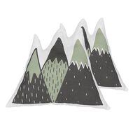 Dekokissen Grün Bergform 60 X 50 Cm 2er Set Indore