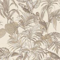 DUTCH WALLCOVERINGS Tapete Bird-of-Paradise Cremeweiß