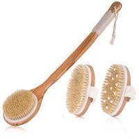 Naturborsten Badebürste Peeling Holz Körper Massage Duschbürste