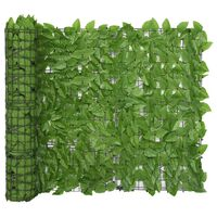 vidaXL Balkon-Sichtschutz mit Grünen Blättern 400x100 cm