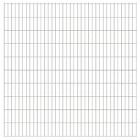 vidaXL 2D Gartenzaun-Elemente 2,008x2,03 m Gesamtlänge 48 m Silbern