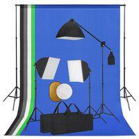 vidaXL Fotostudio-Set mit Leuchten, Hintergrund und Reflektor