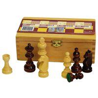 Abbey Schachspiel 87 mm schwarz/weiß 49CL