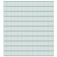 vidaXL 2D Gartenzaun-Elemente 2,008x2,23 m Gesamtlänge 32 m Grün