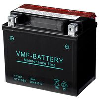 VMF Powersport Liquifix Batterie 12 V 10 Ah MF YTX12-BS