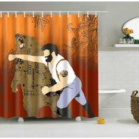 Wasserdichte Polyester Stoff 3d Cartoon Bad Duschvorhänge Gelbe