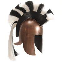vidaXL Griechischer Krieger-Helm Antik Replik für LARP Kupfern Stahl