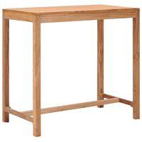 vidaXL Garten-Bartisch 110×60×105 cm Massivholz Teak