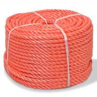 vidaXL Polypropylenseil 12 mm 250 m Orange